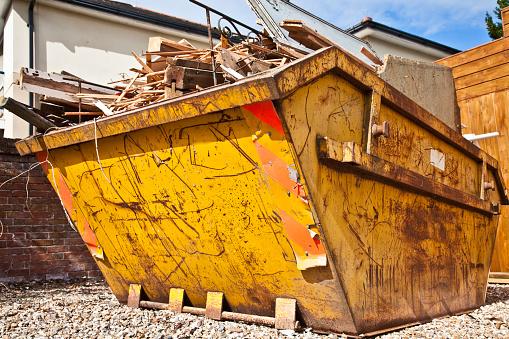 Rubble「Overflowing industrial bin filled with wooden scraps」:スマホ壁紙(16)
