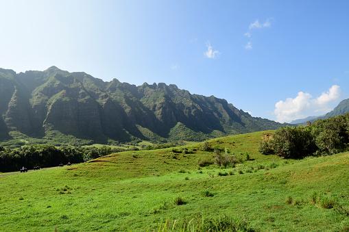 コオラウ山脈「The Ko'olau Range in Oahu, Hawaii.」:スマホ壁紙(15)