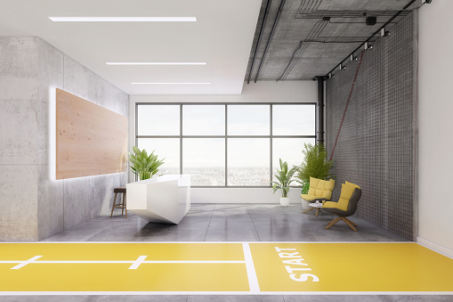Pilates「Modern yoga studio lobby interior」:スマホ壁紙(17)
