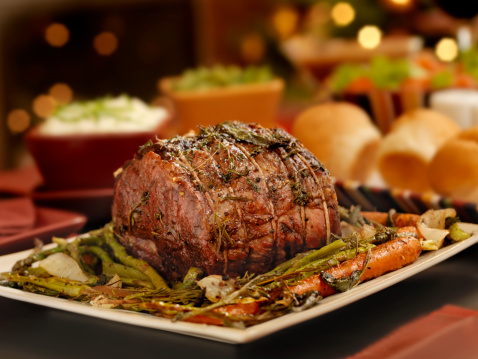 Sirloin Steak「Christmas Roast Beef Dinner」:スマホ壁紙(18)