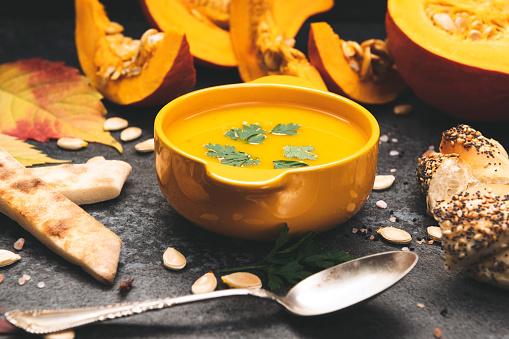 Cream Soup「Homemade Pumpkin Soup for Autumn Days」:スマホ壁紙(0)