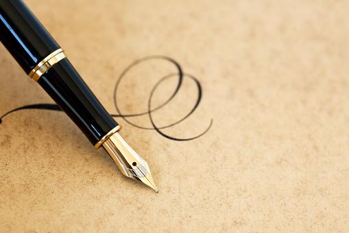 Calligraphy「Fountain pen & flourish」:スマホ壁紙(2)