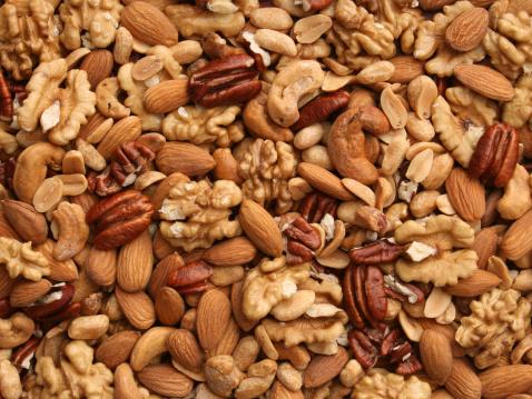Nut - Food「Nuts background」:スマホ壁紙(3)