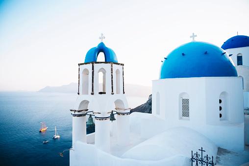 Greek Orthodox「Greece, Santorini, Oia, Greek Orthodox Church」:スマホ壁紙(19)