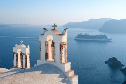Greek Orthodox「Greece, Santorini Views」:スマホ壁紙(3)