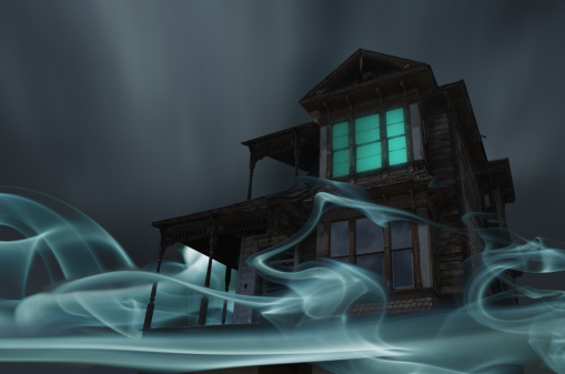 Digital Composite「Glowing Vapor Surrounding House」:スマホ壁紙(2)