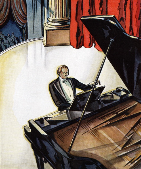 GraphicaArtis「Pianist Playing Grand Piano」:写真・画像(3)[壁紙.com]