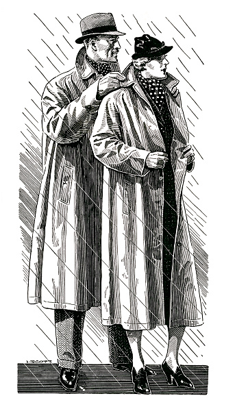 GraphicaArtis「Couple Wearing Raincoats」:写真・画像(5)[壁紙.com]