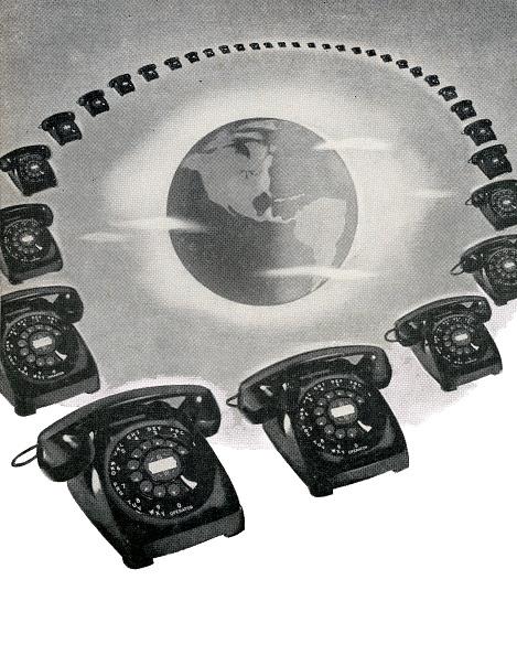 GraphicaArtis「Rotary Telephones And Globe」:写真・画像(2)[壁紙.com]