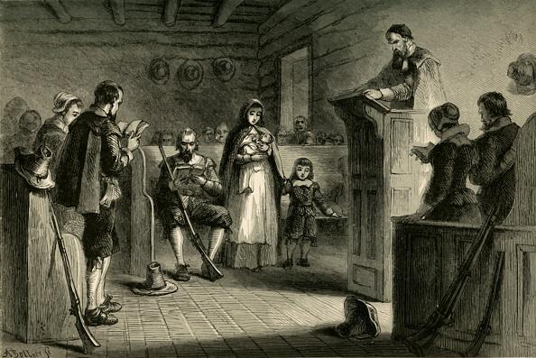 17th Century「Public Worship At Plymouth By The Pilgrims」:写真・画像(8)[壁紙.com]