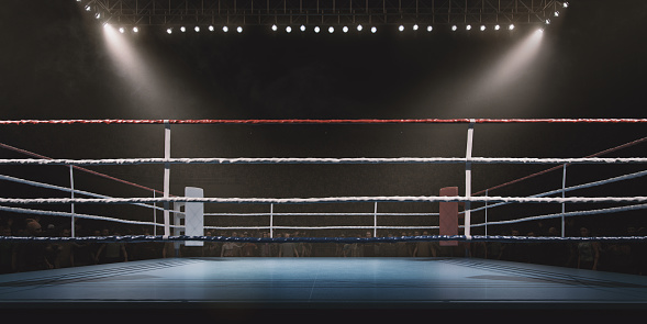 Rope「Boxing: Empty professional ring with crowd」:スマホ壁紙(1)