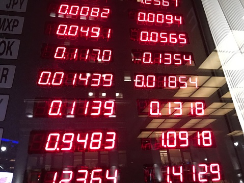 Exchange Rate「Currency exchange rates in window」:スマホ壁紙(11)