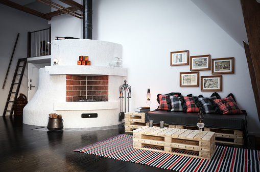Art and Craft Product「Cozy Scandinavian Interior Scene」:スマホ壁紙(11)