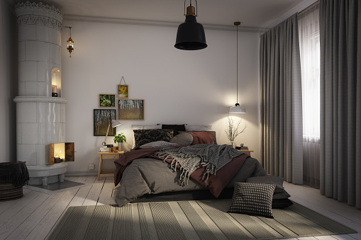 Bad Condition「Cozy Scandinavian Bedroom」:スマホ壁紙(15)