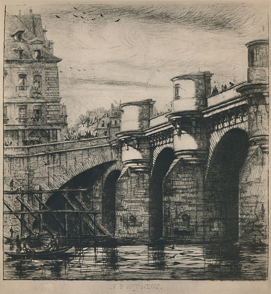 Etching「Le Pont-Neuf 8Th State」:写真・画像(4)[壁紙.com]