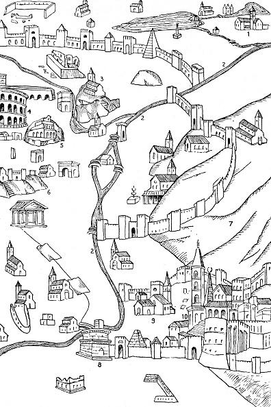 Circa 15th Century「Part Of Rome From A Plan Drawn C1475」:写真・画像(4)[壁紙.com]