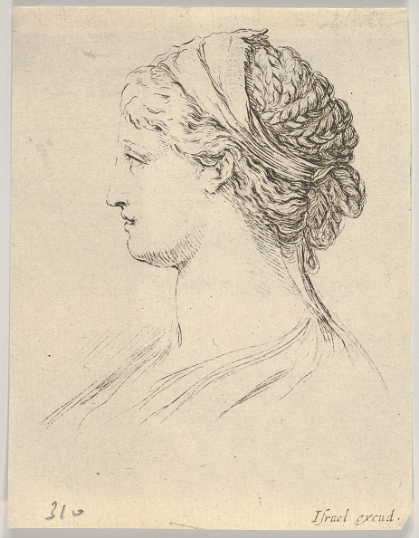 Profile View「Plate 3: Head Of A Woman With Braided Hair」:写真・画像(18)[壁紙.com]