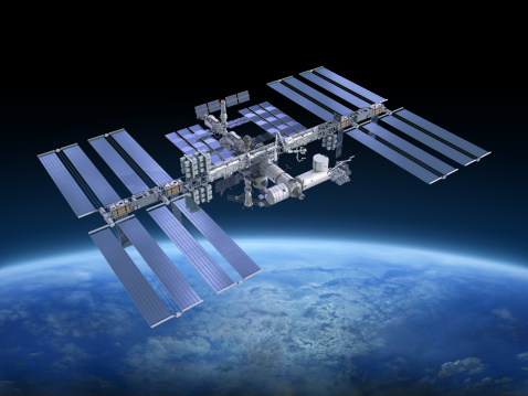 Outer Space「International Space Station ISS」:スマホ壁紙(6)