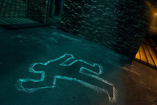Emergency Services Occupation「Chalk outline of body of victim on pavement」:スマホ壁紙(16)