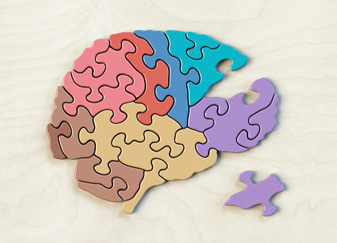 Intelligence「Puzzle shaped like the side view of a brain.」:スマホ壁紙(6)
