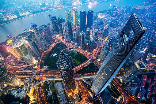 Shanghai「Shanghai Skyline at Night」:スマホ壁紙(7)
