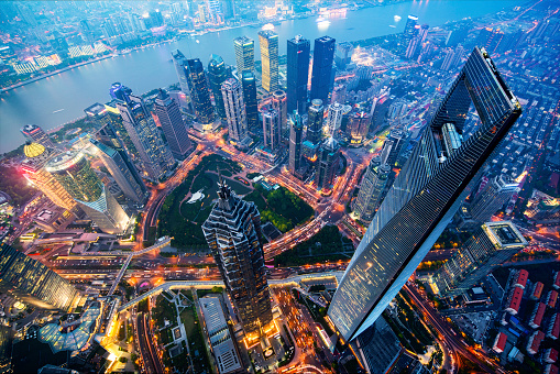 Prosperity「Shanghai Skyline at Night」:スマホ壁紙(9)