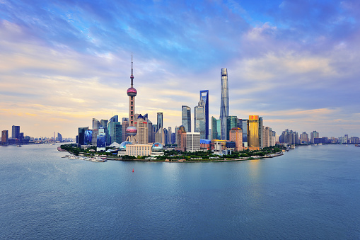 Shanghai「Shanghai Skyline Panoramic at Sunset」:スマホ壁紙(11)
