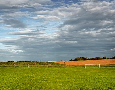 Sports Field「Three soccer goals in a field」:スマホ壁紙(19)