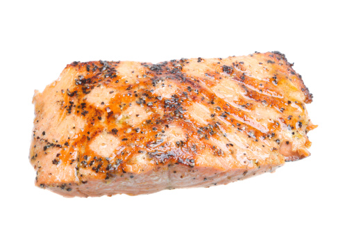 Inexpensive「Grilled Salmon Filet, Isolated on White」:スマホ壁紙(13)