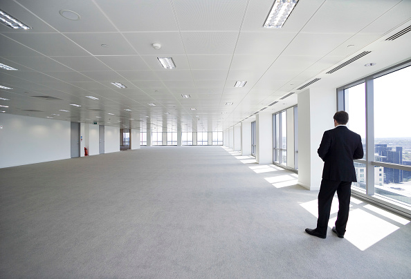 Blank「Floorplate with figure at 1 Canada Square, Canary wharf, London, UK」:写真・画像(1)[壁紙.com]