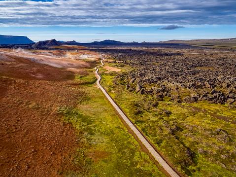 Lava Plain「Leirhnukur Hot Spring Area, Krafla Lava Fields, Northern Iceland」:スマホ壁紙(14)