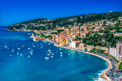 France「Villefranche sur Mer and its bay on the French Riviera」:スマホ壁紙(15)