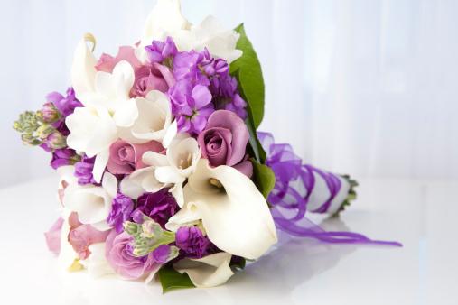 Single Flower「Purple and white bridal bouquet」:スマホ壁紙(13)