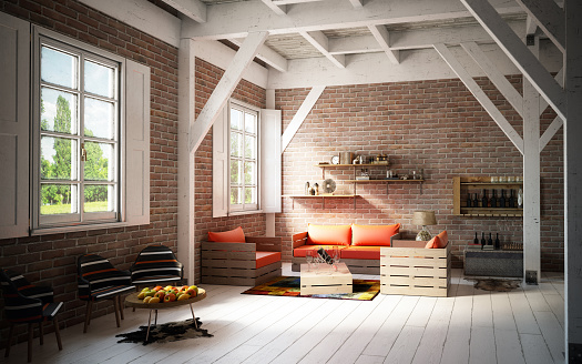 Pallet - Industrial Equipment「Rustic and Cozy Home Interior」:スマホ壁紙(4)