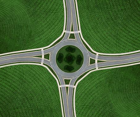 Road Marking「Roundabout Symmetry」:スマホ壁紙(14)