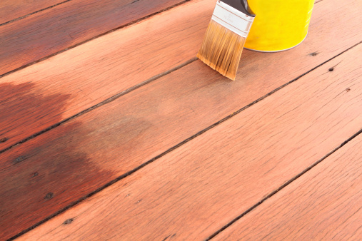 Home Addition「brush tin and decking oil for a timber deck」:スマホ壁紙(1)
