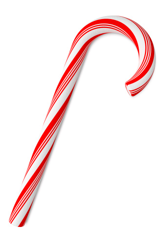 Mint Leaf - Culinary「Candy Cane on White Background, with Clipping Path (XXXL)」:スマホ壁紙(11)