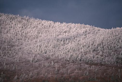グリーン山脈「Snow-covered mountain ridge」:スマホ壁紙(10)