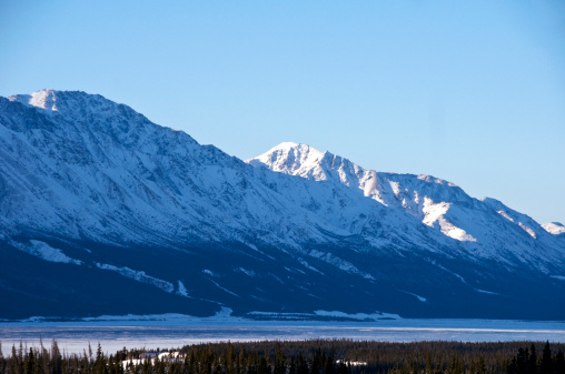 クルエーン山脈「Snow-covered peaks in Kluane Mountains range.」:スマホ壁紙(5)