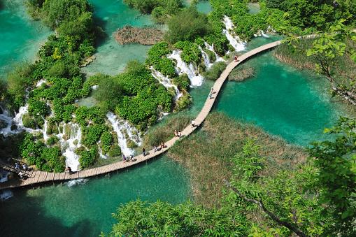 Footbridge「Plitvice lakes National Park, Velike Kaskade」:スマホ壁紙(13)