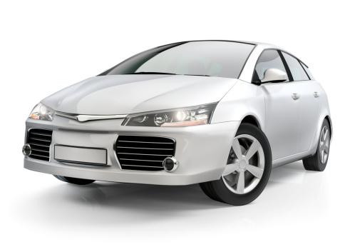 Stationary「White compact car」:スマホ壁紙(17)