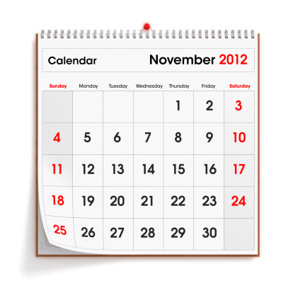 Annual Event「November 2012 Wall Calendar」:スマホ壁紙(1)