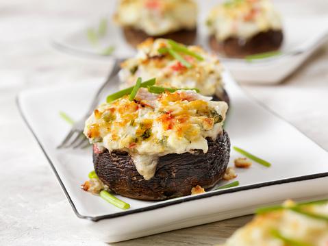 Pollock - Fish「Creamy, Crab and Shrimp Stuffed Mini Portobello Mushroom Caps」:スマホ壁紙(2)