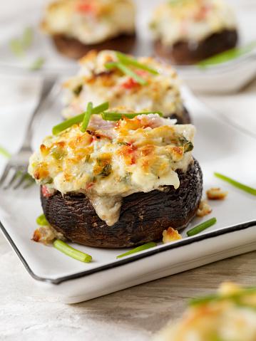 Pollock - Fish「Creamy, Crab and Shrimp Stuffed Mini Portobello Mushroom Caps」:スマホ壁紙(13)