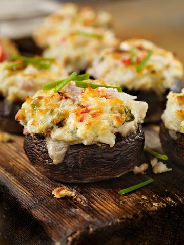 Pollock - Fish「Creamy, Crab and Shrimp Stuffed Mini Portobello Mushroom Caps」:スマホ壁紙(12)