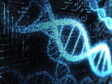 Computer Chip「DNA Strands」:スマホ壁紙(18)