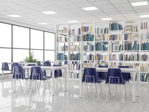 Arrangement「Empty Modern Library」:スマホ壁紙(18)
