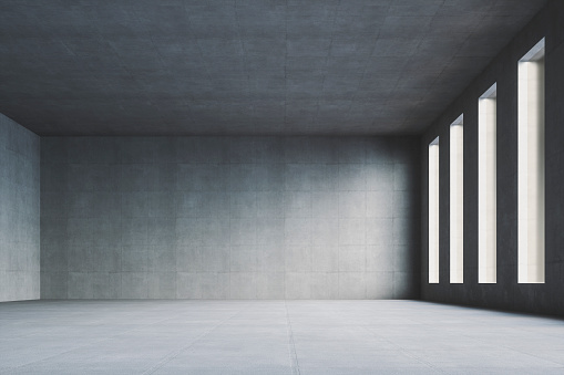 Clean「Empty modern concrete room」:スマホ壁紙(13)