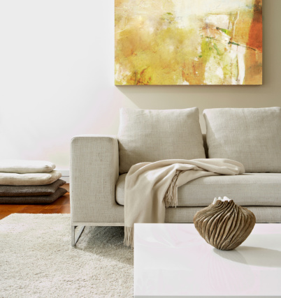 Painted Image「Empty modern living room」:スマホ壁紙(9)