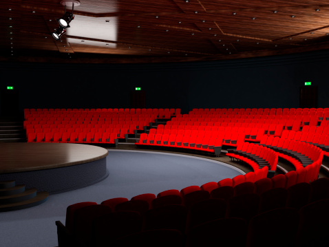 Convention Center「Theatre hall with empty seats」:スマホ壁紙(17)